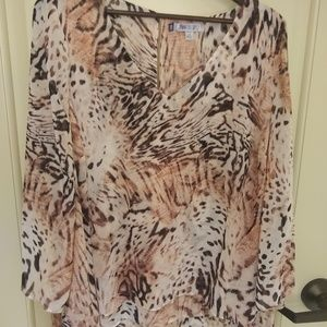 Leopard & cheetah blouse